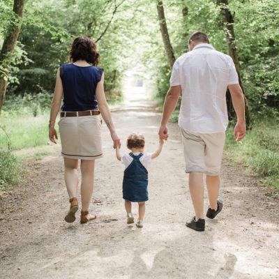 séance photo famille au parc de Pignerolles près d'Angers